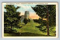 East Northfield MA Sage Memorial Chapel Seminary Vintage Massachusetts Postcard