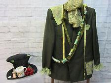 MENS green MAD HATTER jacket coat hat size XL Alice in Wonderland unique OOAK