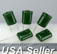 Lot of 20 .47uF 470nF 50V Radial Polyester Film Capacitors PF1H474K / 474K - USA