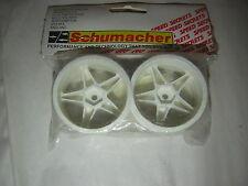 Schumacher U2001A  WHEEL 5 Spoke 25 190 white  SST  rc part  vintage 1/10 tamiya