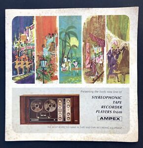 Vintage Ampex Reel to Reel Tape Recorder 1967 Brochure