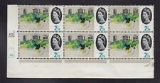 GB 1964 SG651 2½d ORD CYLINDER 1A 1B 1C 3D DOT BLOCK OF 6 MNH