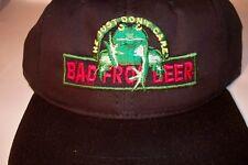 Bad Frog Beer He Just Don't Care Black Snapback Hat