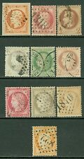 FRANCE : Choice group of 10 different Very Fine, Used Classics. Yvert Cat €250+