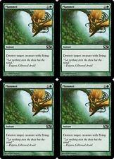 4x PLUMMET M13 Magic 2013 MTG Green Instant Com