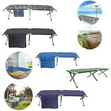 Folding Outdoor Folding Bed  Heavy Duty Light Aluminium Steel Legs FREE CARRY BA