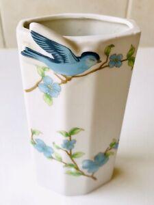 Vintage Bluebird Wall Pocket Vase - Or Free Standing - Blue Bird - 1950's