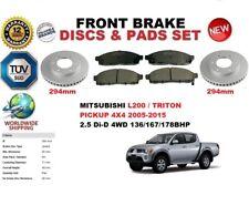 für Mitsubishi L200 Triton 4WD 2005-2015 Vorderbremse Scheibensatz + BREMSBELÄGE