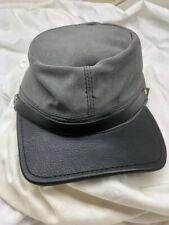 Civil War Reproduction Gray and Black Suede Kepi Hat Adjustable
