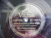 "Glenn Miller Basket Weaver Man Waltz 20-1585 Singapore Victor 78rpm 10"" 198-5DG"