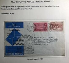 1939 Montreal Canada Airmail First Regular Service Cover To London England