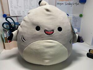 "Squishmallows Gordon the Shark 12"" BNWT Squishmallow Black fin"