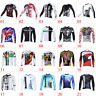 Men's Team Cycling Long Sleeve Tops Bicycle Jersey Racing Clothing Sports Wear