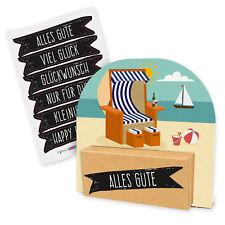 itenga Geldgeschenk Verpackung Strandkorb Urlaub Meer Strand Geschenk Karte