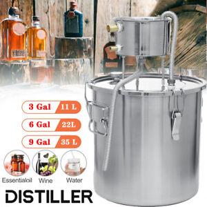 Alcohol Distiller Moonshine 2/3/5/6 Gal Still Spirits Water DIY Home Brewing UK