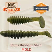 Reins Bubbling Shad Fishing Mold Swimbait Lure Bait Soft Plastic 48-75 mm