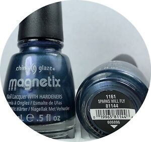 China Glaze Magnetix Nail Polish Sparks Will Fly 1161 Lacquer With Hardeners