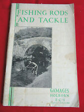A SCARCE VINTAGE 1930'S GAMAGES FISHING ADVERTISING CATALOGUE