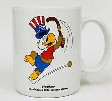 HTF Vintage Los Angeles 1984 Olympic HOCKEY Sam the Eagle Coffee Mug EUC