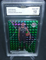 2019-20 Panini Mosaic Kevin Durant Green Prizm Card #1 GMA Graded Gem Mint 10