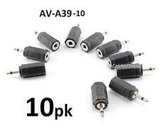 10-PACK 3.5mm Mono Female Jack to 2.5mm Mono Plug Audio Adapter, AV-A39-10