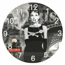 Widdop Glass Quartz (Battery Powered) Wall Clocks