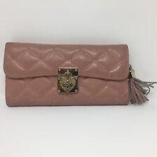 OMNIA CRYSTAL Pink Leather Wallet Clutch Korean