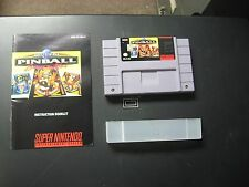 Super Nintendo SNES Super Pinball Behind the Mask Video Game w/ Booklet Manual