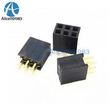 50PCS 2x3 Pin 6P 2.54mm Double Row Female Straight Header Pitch Socket Pin Strip