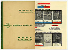 Auto Oldtimer Technik Opel Rekord Betrieb Pflege Bedienung Buch 1960