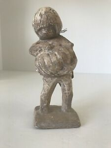 "Vintage Austin Products Sculpture Boy With Pumpkin With Tag RARE 7"" tall"