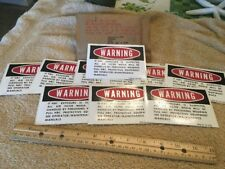 10 NOS Military Truck NBC Warning Sticker Decal M151 M35A2 M939 M923 M813