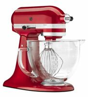 KitchenAid Artisan 5 Quart Tilt-Head Stand Mixer with Glass Bowl, KSM155GB