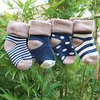 100% Cotton 4 Pairs Toddler Infant Warm Soft Socks Baby Kids Child Newborn Socks