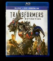 🤖🎬TRANSFORMERS Age Of Extinction Blu-ray & DVD 3-Disc Set (2014) Like New!🤖