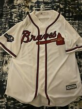 Atlanta Braves Ronald Acuna Jr Jersey Majestic Postseason 2019 BARELY WORN Large