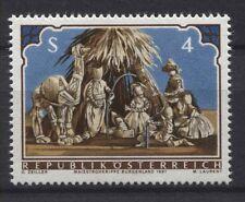 Österreich Austria 1691 Weihnachten 1981 Weihnachtskrippe aus Maisstroh, 1981 **