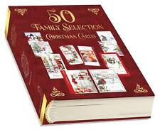 Bumper Box of 50 Family Christmas Cards - 10 Assorted Cute Traditional Designs