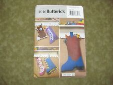 "BUTTERICK SEWING PATTERN 4046 CHRISTMAS STOCKINGS 16"" ASST DESIGNS New & UNCUT"