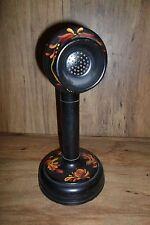 WWII Army Microphone T-48 Folk Art signed Char 1971   * Worldwide *