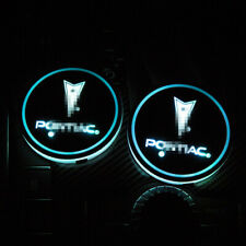 LED Car Cup Bottle Holder Pad Mat Fit For Pontiac Auto Atmosphere Lights Deco