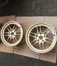 "Enkei RPF1 Alloy Wheels Gold 17"" 9J 5x114.3 ET45 S2000 200SX SUPRA NISSAN HONDA"