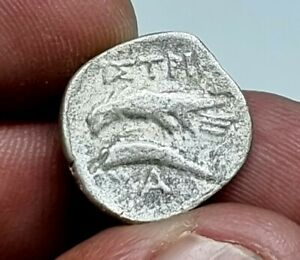 ANCIENT GREEK SILVER COIN STATER MOESIA,ISTROS Circa 4th Century BC.4,0 GR.17 MM