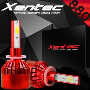 XENTEC 880 881 7600LM 388W LED headlight Kit 6000K bulbs White Color Pair