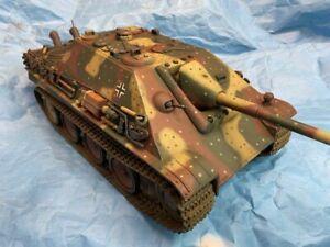 Built 1/18 Scale   Custom Ambush Pattern Jagdpanther Ultimate Soldier 21st  Tank