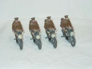 4 Vintage Britains #200 Motorcycle Dispatch Riders