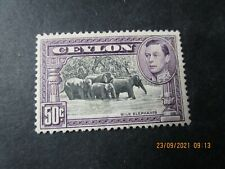 More details for ceylon george vi sg394a mint-£450.00 in 2018-post uk only-read all below. lot 2.