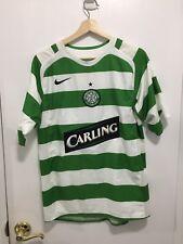 Nike Green White Celtic Football Club CARLING Soccer Jersey Size S Irish Clover