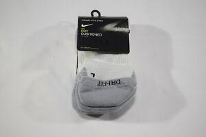NIKE Dry Cushioned No Show Socks 3 PACK - Size Medium 5Y-7Y