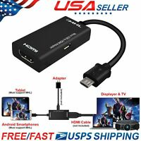 US MHL Micro USB Male to HDMI Female Adapter Cable for Android Smartphone&Tablet